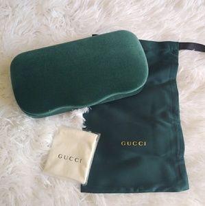Emerald Green Gucci Sunglasses Case